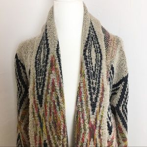 Woven Heart Arizona Aztec Tribal open cardigan